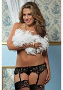 Lace Affairs Garter Belt Black 1/2x