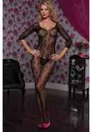3/4 Sleeve Opencrotch Bodystocking