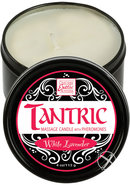 Tantric Massage Candle With Pheromones White Lavender 4oz
