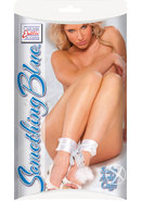 Something Blue Satin Ankle Cuffs White