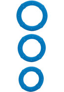 Posh Silicone Love Cock Rings Blue 3 Each
