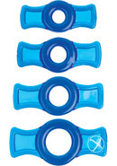 Titanmen Tools Cock Ring Set Blue 4 Each Per Set