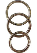Metal O Ring 3 Pack Assorted Cockrings Metal