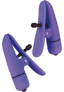 Nipple Play Nipplettes Vibrating Clamps Waterproof Purple