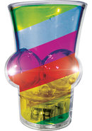 Light Up Rainbow Boobie Shot Glass Multi-color