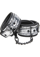 Master Series Platinum Bound Ankle Cuffs Silver
