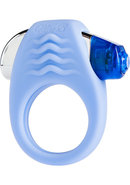 Mae B Lovely Vibes Stylish Soft Touch C-ring Silicone Blue