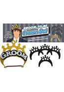Groom To Be Celebration Crown Set Gold And Black And Silver...