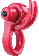 Orny Reuseable Ring Vibe Latex Free Waterproof Red
