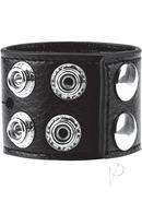 Candb Gear Cock Ring With Ball Strap Black 1.5 Inch