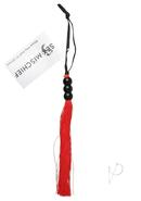 Sex And Mischief Small Rubber Whip 10 Inch Red