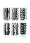 The 9`s - Crystalline Cock Sleeves 6 Pack - Clear