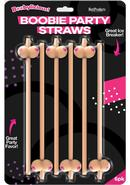 Boobylicious Boobie Party Straws Tan 6 Per Pack