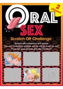 Oral Sex Scratch Off Challenge Game Ticket